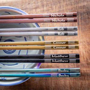Coloured steel chopsticks