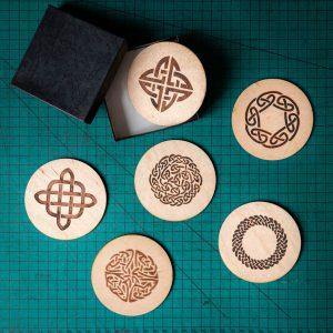 Wooden Celtic Knots Coasters