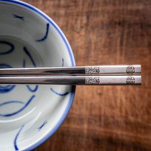 Chinese chopsticks close